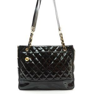 Auth Chanel Quilted Chain Tote Bag #4270C32